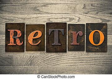 legno, concetto, tipo, retro, letterpress