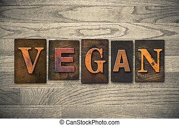 legno, concetto, tipo, vegan, letterpress