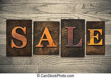 legno, concetto, tipo, vendita, letterpress