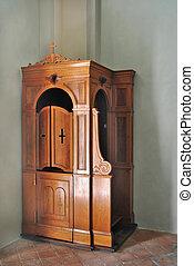 legno, confessionale