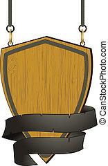 legno, corda, segno, scudo, dettaglio