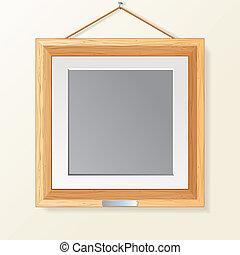 legno, cornice foto