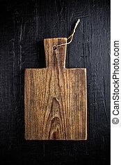 legno, culinario, tagliere, fondo