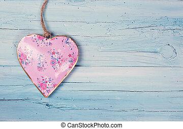legno, cuore, fondo