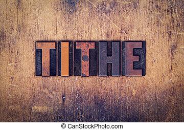 legno, decima, concetto, tipo, letterpress