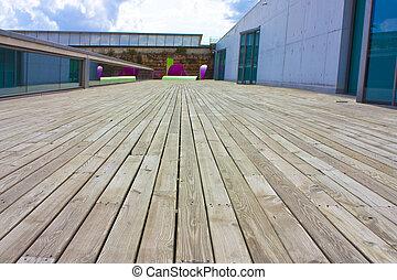 legno, decking, sculture