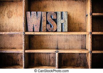 legno, desiderio, tema, concetto, letterpress