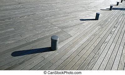legno, diagonale, ponte