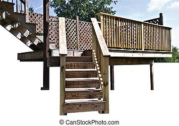 legno, disegno, ponte