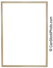 legno, dorato, cornice, stretta, immagine
