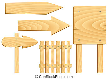 legno, elementi, segni