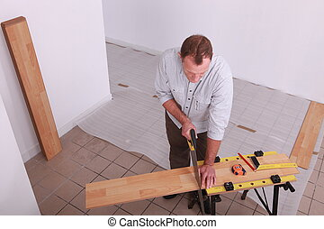 legno, equipaggi posa, pavimento