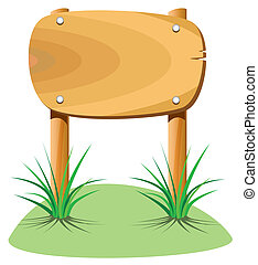 legno, erba, elemento