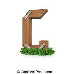 legno, erba, lettera g