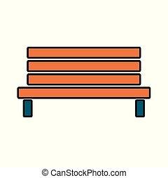 legno, esterno, panchina