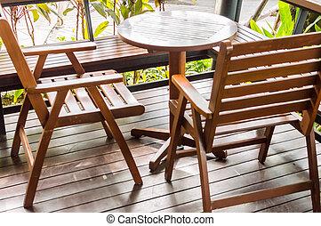 legno, fine, moderno, tavola.