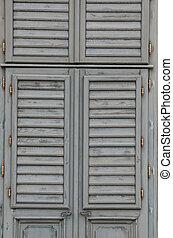 legno, finestra, dettaglio