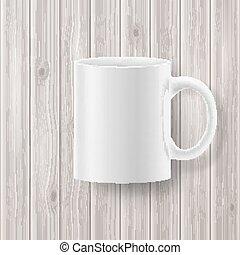 legno, fondale, tazza