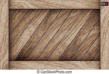 legno, fondo, asse, vettore