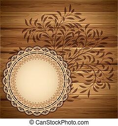 legno, fondo, etichetta