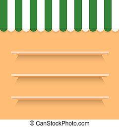 legno, fondo, mensole