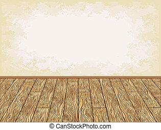 legno, fondo, pavimento