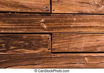 legno, fondo, ponte