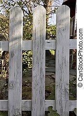 legno, giardino, recinto