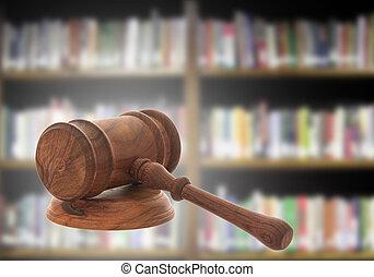 legno, giudice, martelletto