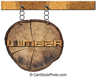 legno, industria, legname, -, segno