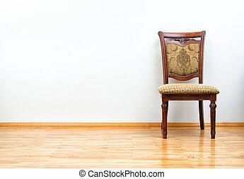 legno, interno, sedia, pavimento, classico