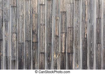 legno, invecchiato, assi, fondo