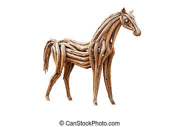 legno, isolato, cavallo