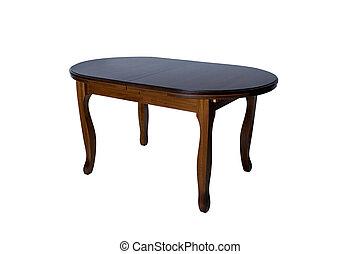 legno, isolato, fondo, tavola, bianco, rotondo
