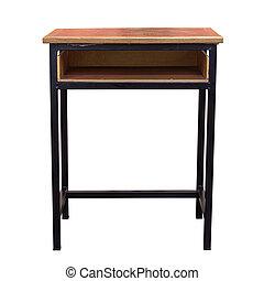 legno, isolato, tavola, percorso, ritaglio, bianco