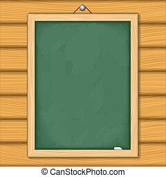 legno, lavagna, parete