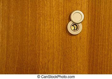 legno, lente, porta, fondo