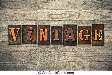 legno, letterpress, concetto
