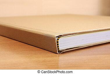legno, libro, dettaglio, tavola