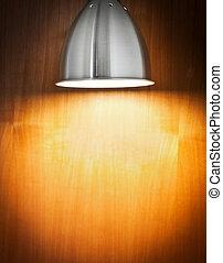 legno, luce, macchia, parete