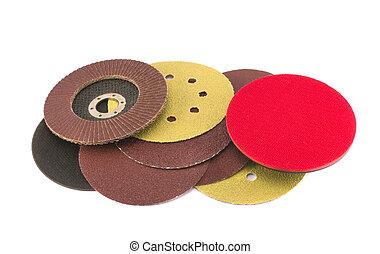 legno, macinatore, collezione, sabbia, dischi, polacco, rotondo, speciale