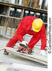legno, macinatore, taglio, costruzione, asse, sega