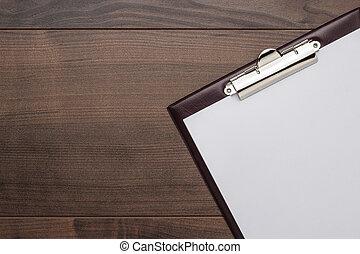 legno, marrone, blocco note, ufficio, tavola