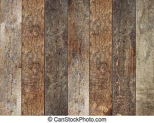 legno, marrone, vecchio, assi