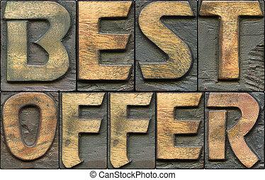 legno, meglio, letterpress, offerta