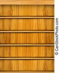 legno, mensola, libro, fondo