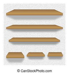 legno, mensole