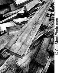 legno, mucchio, vecchio, assi