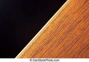 legno, nero, asse, fondo