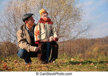 legno, nipote, nonno